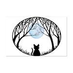Fat Cat & Cat Lover Mini Poster Print