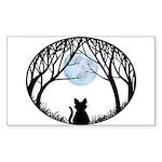 Fat Cat & Cat Lover Sticker (Rectangle 50 pk)