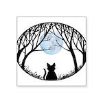 Fat Cat & Cat Lover Square Sticker 3