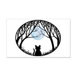 Fat Cat & Cat Lover 20x12 Wall Decal