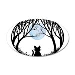 Fat Cat & Cat Lover 35x21 Oval Wall Decal