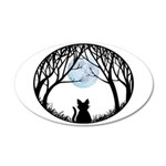 Fat Cat & Cat Lover 20x12 Oval Wall Decal