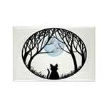 Fat Cat & Cat Lover Rectangle Magnet (100 pack)