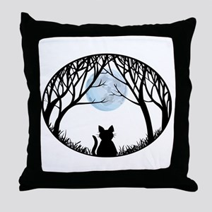 Cat Lover Cute Fat Cat Throw Pillow