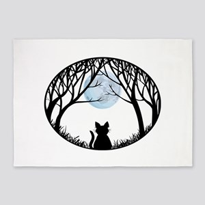 Fat Cat Gifts Shirts Cat Lover Art Gifts 5'x7'Area