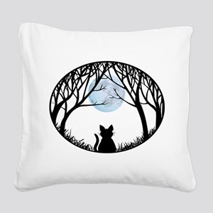 Cat Lover Cute Fat Cat Square Canvas Pillow