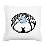 Fat Cat & Cat Lover Square Canvas Pillow