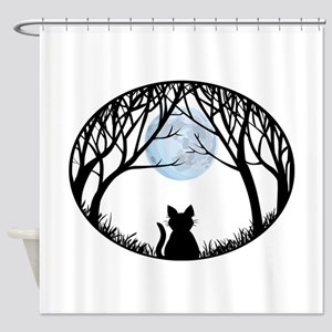 Cat Lover Cute Fat Cat Shower Curtain
