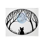 Fat Cat & Cat Lover Throw Blanket