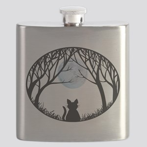 Fat Cat Gifts Shirts Cat Lover Art Gifts Flask