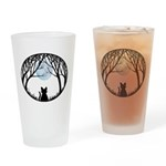 Fat Cat & Cat Lover Drinking Glass