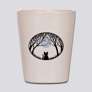 Cat Lover Cute Fat Cat Shot Glass