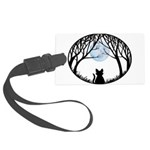 Fat Cat & Cat Lover Large Luggage Tag