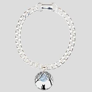 Cat Lover Cute Fat Cat Charm Bracelet, One Charm
