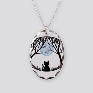 Cat Lover Cute Fat Cat Necklace Oval Charm