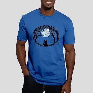 Cat Lover Cute Fat Cat Men's Fitted T-Shirt (dark)