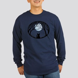 Cat Lover Cute Fat Cat Long Sleeve Dark T-Shirt