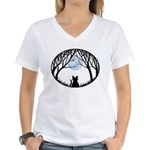 Fat Cat & Cat Lover Women's V-Neck T-Shirt