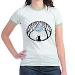 Fat Cat & Cat Lover Jr. Ringer T-Shirt