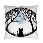 Cat Lover Cute Fat Cat Everyday Pillow