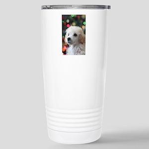 Christmas toy poodle pu Stainless Steel Travel Mug