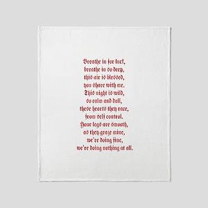 Dashboard Confessional Lyric Throw Blanket