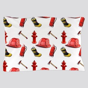I Love Firemen Pillow Case