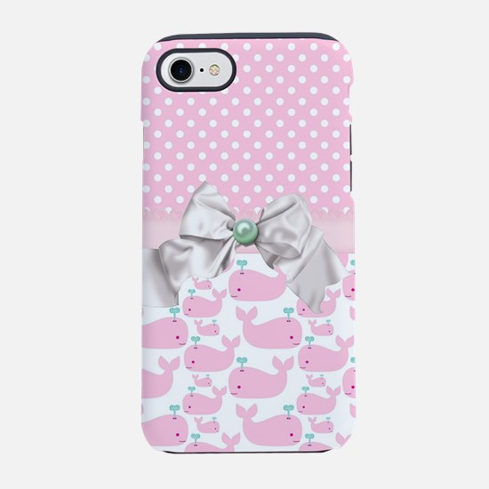 Baby Pink Whales iPhone 8/7 Tough Case