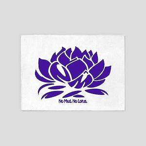No Mud No Lotus Violet 5'x7'Area Rug