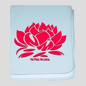No Mud No Lotus Red baby blanket