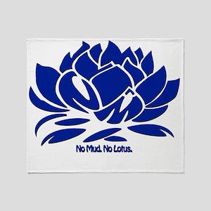 No Mud No Lotus Blue Throw Blanket