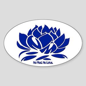 No Mud No Lotus Blue Sticker