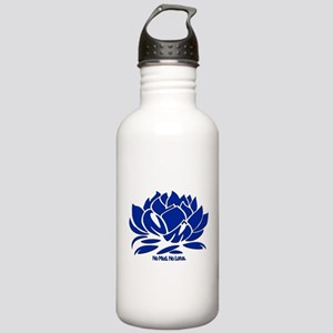 No Mud No Lotus Blue Stainless Water Bottle 1.0L