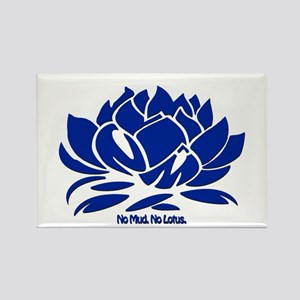 No Mud No Lotus Blue Magnets
