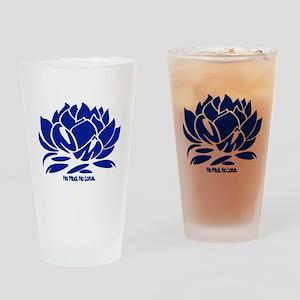 No Mud No Lotus Blue Drinking Glass