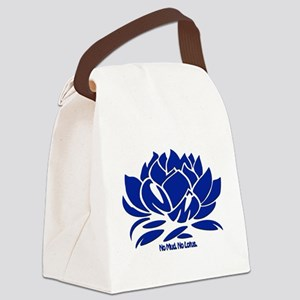 No Mud No Lotus Blue Canvas Lunch Bag