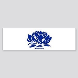 No Mud No Lotus Blue Bumper Sticker