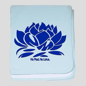 No Mud No Lotus Blue baby blanket
