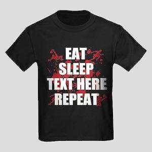 Eat Sleep Soccer Repeat Personal Kids Dark T-Shirt