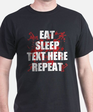 Eat Sleep Soccer Repeat Personalize T-Shirt