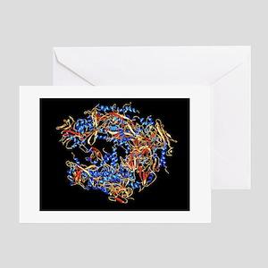 RNA polymerase II molecule - Greeting Cards