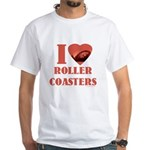 I love Roller Coasters White T-Shirt