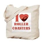 I love Roller Coasters Tote Bag
