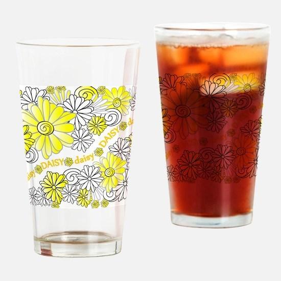 Oopsie Daisy Design Drinking Glass