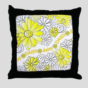 Oopsie Daisy Design Throw Pillow
