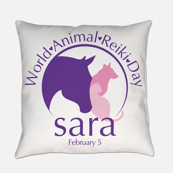 World Animal Reiki Day Everyday Pillow