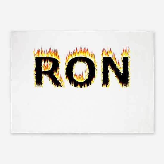 Ron (Flames) 5'x7'Area Rug