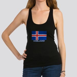 Icelandic Flag (labeled) Tank Top