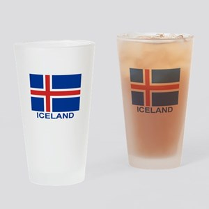 iceland-flag-labeled Drinking Glass