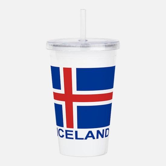 iceland-flag-labeled.p Acrylic Double-wall Tumbler